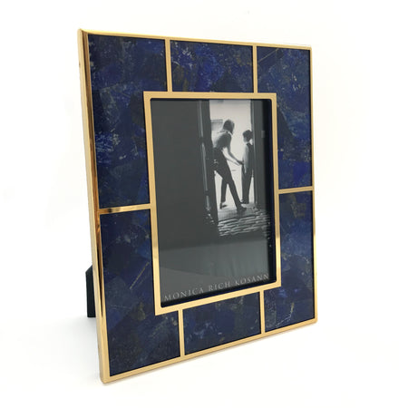 Lapis and 24K Gold Plated Frame
