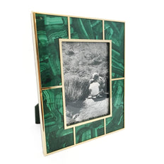 Malachite and 24K Gold Plated Frame