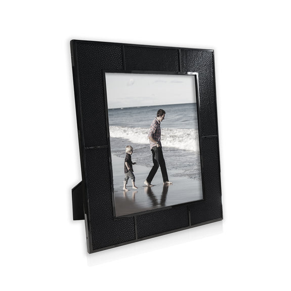 Black Shagreen Photo Frame