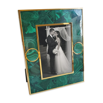 Malachite and Stone Circle Accent Frame