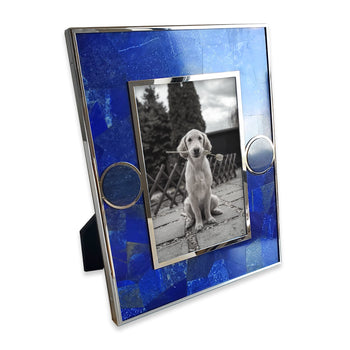 Lapis and Stone Circle Accent Frame