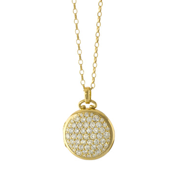 Limited Open Edition Pave Diamond Locket