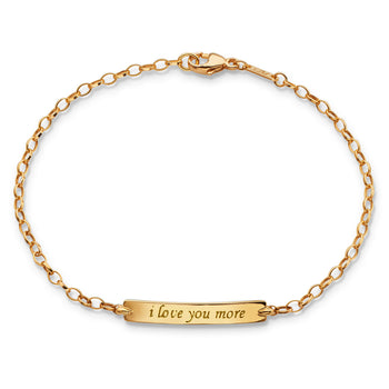 "18K Yellow Gold ""I Love You More"" Petite Poesy Bracelet"