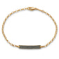 """Carpe Diem"" Black Diamond Poesy Bracelet"