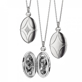 Bridle Locket with White Sapphires