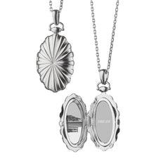 Oval Sunburst Locket for two photos