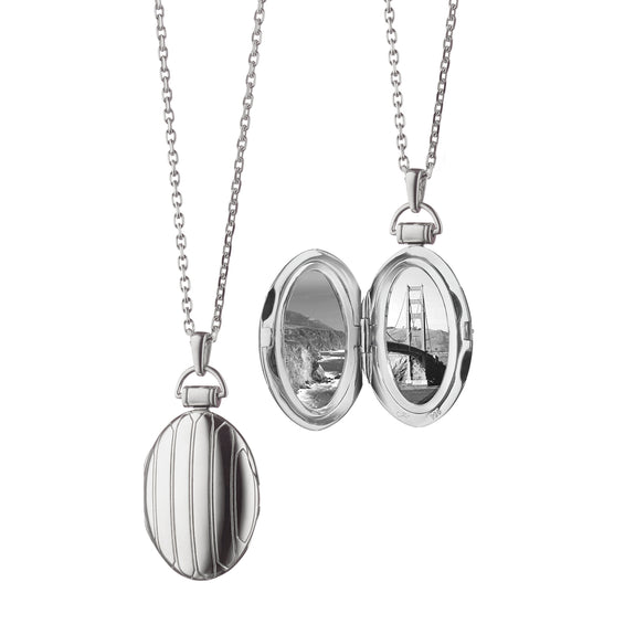 Oval Pinstripe Locket