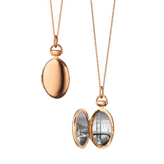 "18K Rose Gold Petite ""Anna"" Locket Necklace"