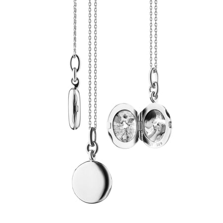 "Sterling Silver Slim Round ""Nan"" Locket"