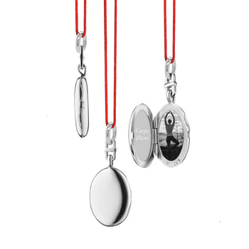 "Slim Corded Oval ""Eve"" Locket"
