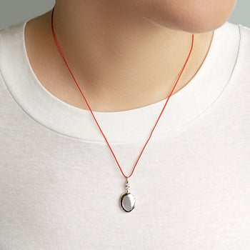 "Slim Oval ""Eve"" Locket on 18"" Red Cord"