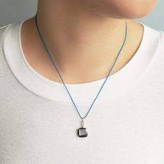 "Slim Cushion ""Viv"" Locket on 18"" Blue Cord"
