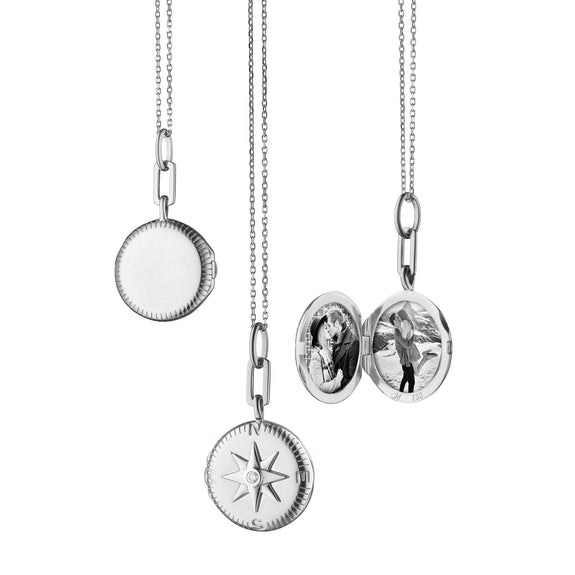 """Travel"" Compass Locket"