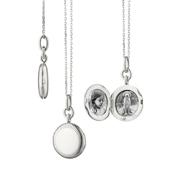 "Slim Round ""Nan"" Locket with Engraved Accents"