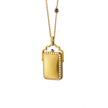 Rectangular Swivel Pocket Watch Locket
