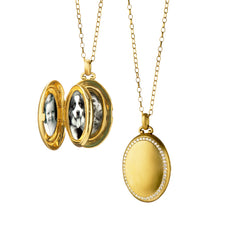 "The Four ""Premier"" Diamond Locket, Satin"
