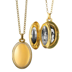 "The Four ""Premier"" Diamond Locket, Satin Finish"