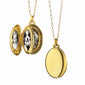 Four Photo Oval Locket in 18K gold with a high polish finish