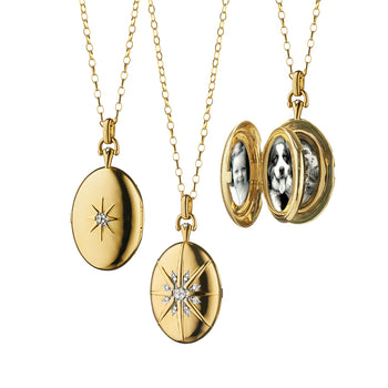 "The Four Image ""Premier"" Locket with Diamond Star Burst"