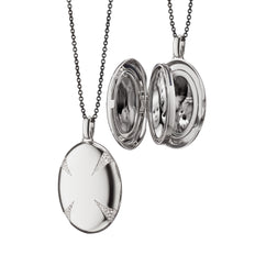 "The Four ""Premier"" White Sapphire Locket"