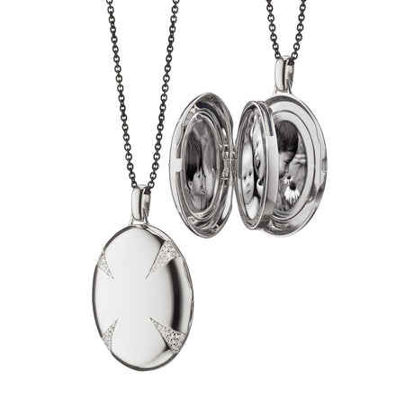 "The Four Image ""Premier"" White Sapphire Locket"