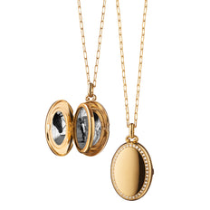 "The Four ""Midi"" Diamond Border Locket"