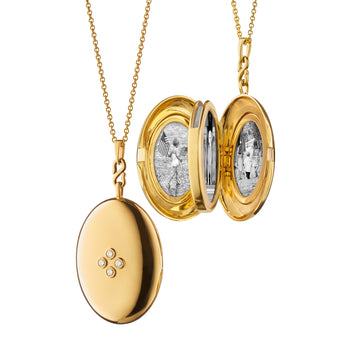 "The Four ""Premier"" Infinity Locket with Center Diamonds"