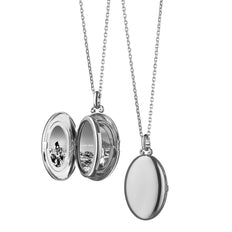 "The ""Midi"" Four Image Locket in sterling silver on a 18"" chain"