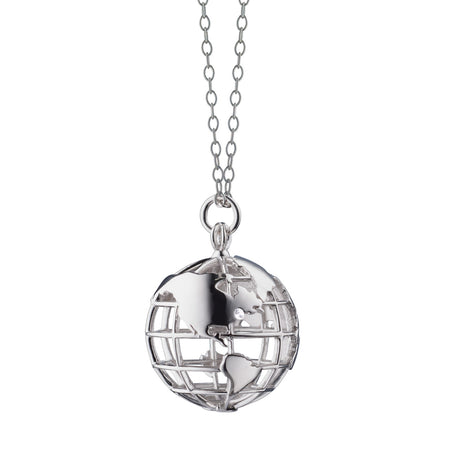 My Earth NYC  Sterling Silver Charm Necklace