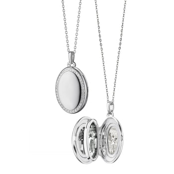 "The Four Image ""Midi"" Sapphire Locket"