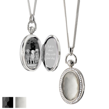Oval Pocket Watch Locket