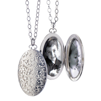 Large Floral Locket