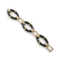 Black Ceramic Link Bracelet in 18K gold with diamond accents