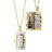 Rectangular White Ceramic Locket in 18K yellow gold