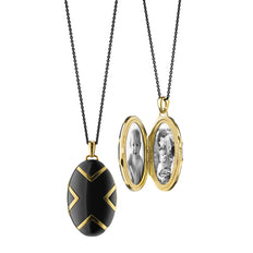 Chevron Black Ceramic Locket
