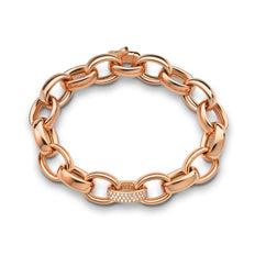 18K Rose Gold Marilyn Pave Link Chain