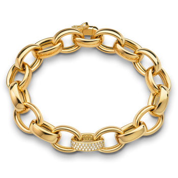 Marilyn Pave Link Chain in Yellow Gold