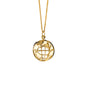 """My Earth"" 18K Yellow Gold Charm Necklace, Custom Diamond Location"