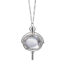 Large Oval Pocket Watch Key Necklace