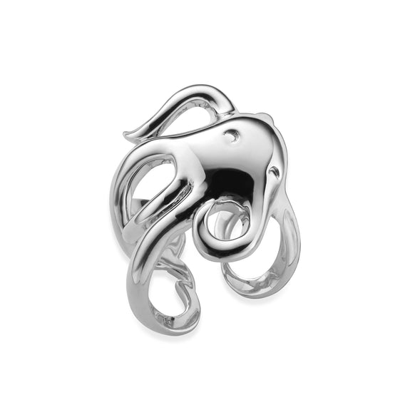 """Intuition"" Octopus Ring in sterling silver"