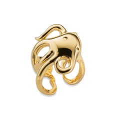 """Intuition"" Octopus Ring in 18k yellow gold"