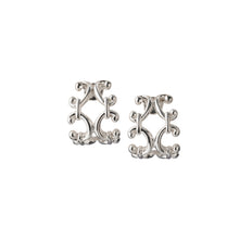 Scroll Huggie Earrings, Small