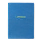 Carpe Diem Embossed Leather Notebook Shown in Blue