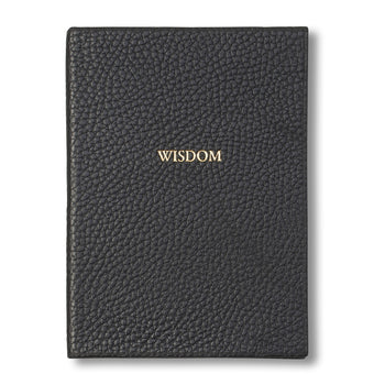 """Wisdom"" Leather Journal"