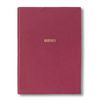 Pink Leather Journal Embossed with 'Mine!'