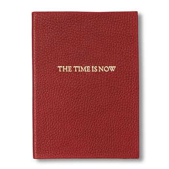 """The Time is Now"" Leather Journal, Red"