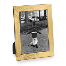 Brass Sunburst Frame Made in Italy, holds one photo