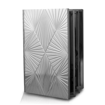Geometric Photo Album in sterling silver
