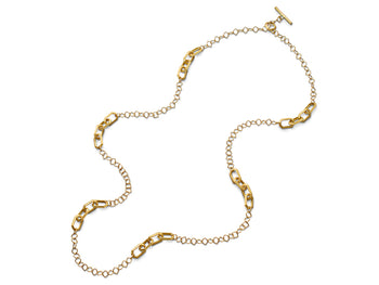 18K Yellow Gold Toggle Link Necklace