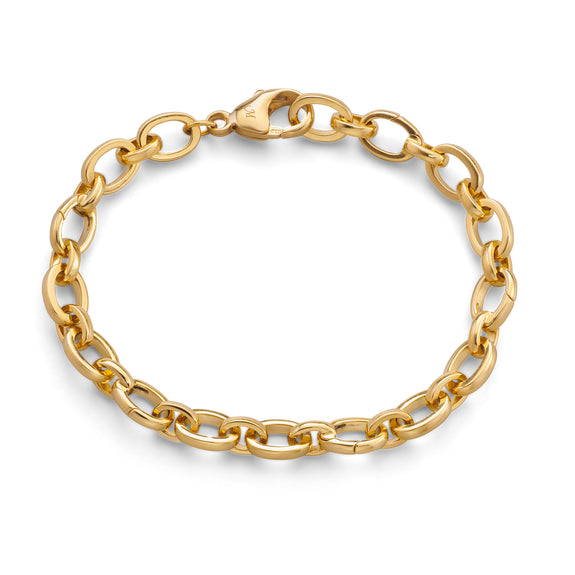 """Audrey"" Link Charm Bracelet in 18K Yellow Gold"